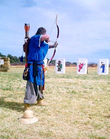 Asiatic style bow by Kassai Horsebows at Estrella War XVI